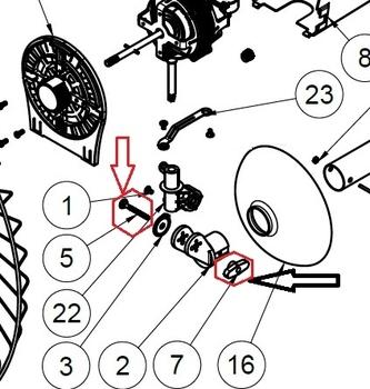 Parafuso do Suporte para fixar Ventilador de Parede - Parafuso com Porca Capa Borboleta Plástica Ret
