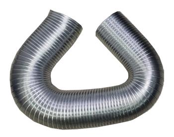 Duto Flexível de Alumínio 15cm para Exaustores - Tubo Flexível 150mm 06 Semidec p/Até 250ºC - Pacote c/3Metros