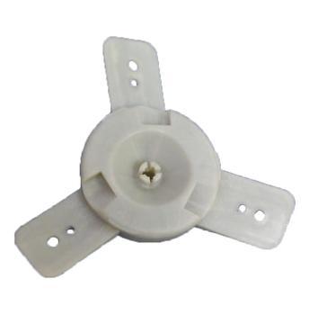 Centro de Hélice Ventilador Ventisol 50/60cm - Antigo - Branco - Montado com Encaixe Sobre Pressão -