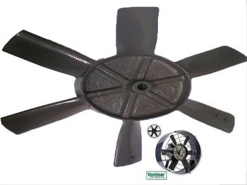 Hélice para Exaustor Ventisol 46cm 6Pás em Metal Eixo 16,0mm c/Trava Chaveta - Hélice para Exaustor
