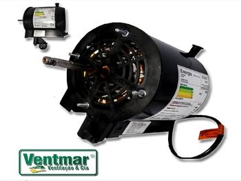 Motor para Ventilador de Parede Vent New 50cm Preto - Bivolt 135w 02,5uF - Eixo 10mm - 440vac