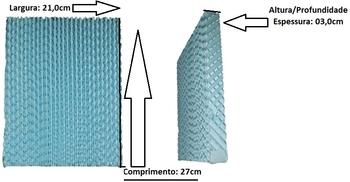Colmeia para Climatizador Ventisol CLA-01 CLA-02 - Painel Traseira - Espessura 3,0cm x L21 x A27cm - Painel Evaporativo Traseiro Climatizador Ventisol