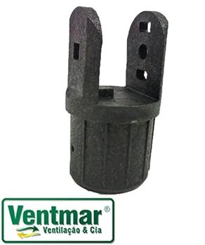 Cachimbo do Ventilador Dômina Preto - Cachimbo do Ventilador de Coluna Domina - Articulador Basculan