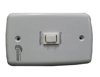 Chave para Ventilador - Chave para exaustor 1 Tecla Liga/Desliga com Reversão - Espelho 4X2 com Fios