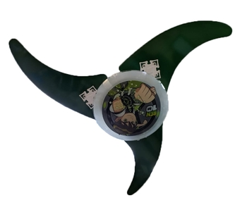 Ventilador de Teto Venti-Delta Ben10 Infantil 127v 3v10,0uF - Motor Branco - 3pás Madeira Arte Verde