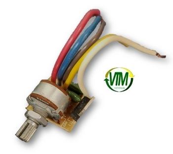 Controle Para Ventilador - Controle De Velocidade Dimer Rotativo Com Clique 0200W Bivolts - Chave Co