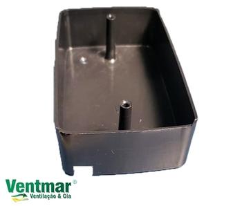 Caixa ExternA Plástica Preta - Caixa Externa de Sobrepor para Instalação de Chave ou Tomada Externa