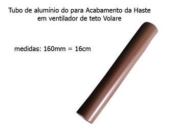 Acabamento tubo de alumÍnio do ventilador de teto volare 16cm cafe vlr