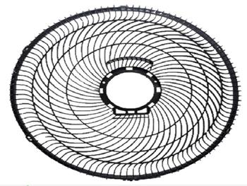 Grade Traseira do Ventilador Mondial Turbo Force 8Pás 40cm Plástica Preta