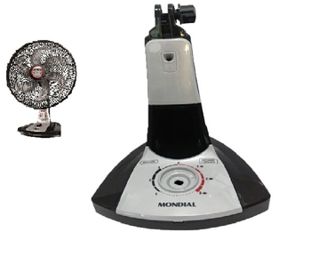 Base Coluna do Ventilador de Mesa Mondial Turbo Force VT-RP-02 40cm Preto - Sem o Dispositivo Repelente*