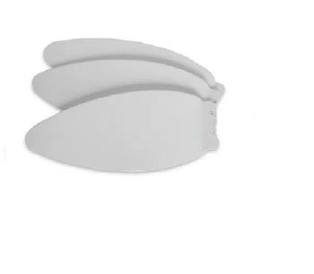 Pá Hélice para Ventilador de Teto Ventisol Aires Kit/Jogo c/3-Unidades - Ventilador Lumiar - Ventilador Prisma - Pás Plástica Branca