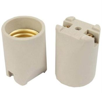 Soquete de Porcelana para Ventilador de teto RiopreLustre - Soquete c/Furo Central para Fixação - Soquete de Porcelana para Luminárias * Vendido p/Uni