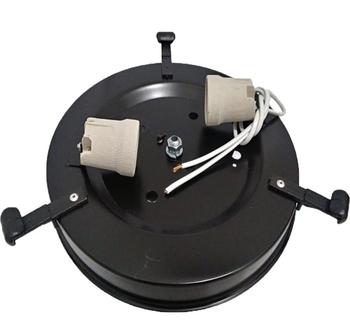 Plafon do Motor Venti-Delta Magnes Preto com 2 Soquete