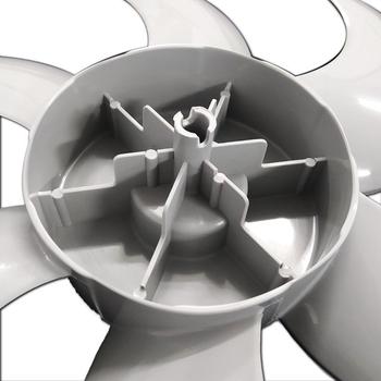 Hélice para Ventilador Mallory Turbo Silence 30cm 6Pás Cinza - Encaixe Ponta Redonda - Eixo 8,0mm com Trava Traseira