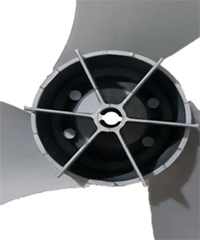 Hélice para  Ventilador Arno 30cm 3Pás Plástica Furo 08mm Diâmetro 28cm Cinza