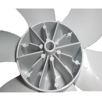 Hélice para Ventilador Philco Turbo Zes 30cm 6Pás Cinza - Encaixe Meia Lua Dianteira Eixo 8,0mm SEM Trava Traseira - HELPHILCO