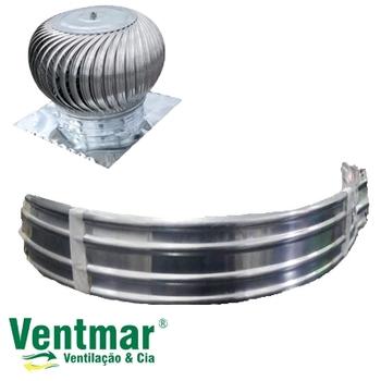 Kit Aletas para Exaustor Eólico 24 com 11 Unidades - para Exaustor MARIVENT
