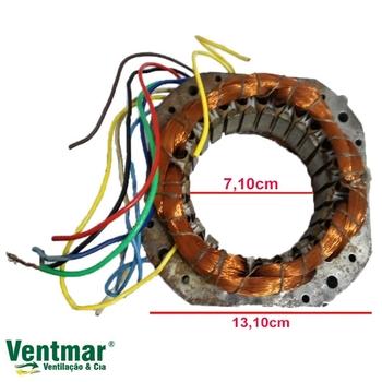 Estator Bobinado do Ventilador Solaster 60/70cm Acapulco Plus / Veneza Bivolt 07,0uF 12-BOB D/E 13,1