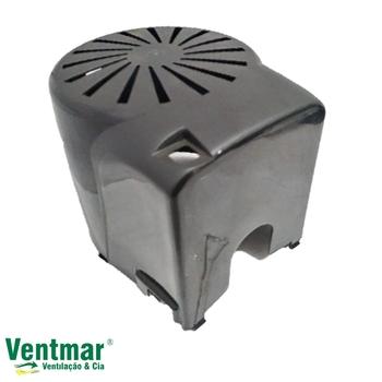 Capacete do Motor para Ventilador Ventisol 50/60cm MX New Notos Preto - Capa Plastica 0361MX para Ventilador de Mesa, de Coluna ou Parede