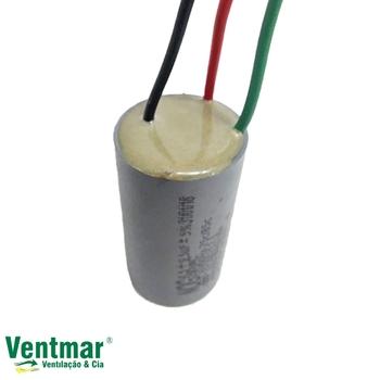Capacitor para Controle Remoto do Ventilador de Teto Aliseu Terral 14,0uF 3Fios (4,5+9,5mF) 250VAC