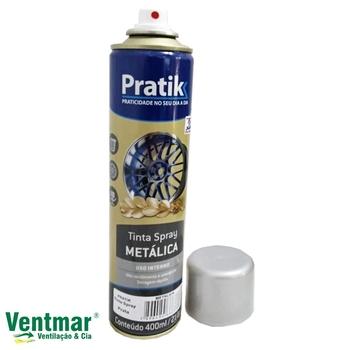 Tinta Spray Cor Prata Metálica 360/400ml - Pratik