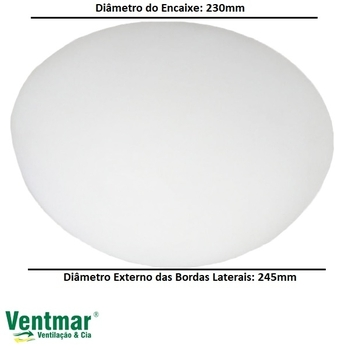 Globo Cúpula de Vidro Ventilador Tron Aventador Stilo - Vidro Londres Arredondado - Encaixe 245mm - para Treviso Atenas Tron Solano Loren Sid Uranio V