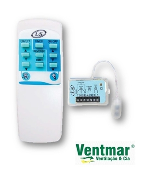 Controle Remoto Para Ventilador de Teto - Kit LS Elétro Modelo AT1 - Atende Vários Modelos de Ventiladores inclusive Latina - Controle Remoto Infraver