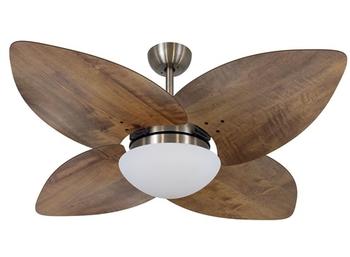 Ventilador de Teto Volare Dunamis Bronze VD42 127v 10,5uF Chave 3Velocidades - 4Pás Madeira Radica Imbuia