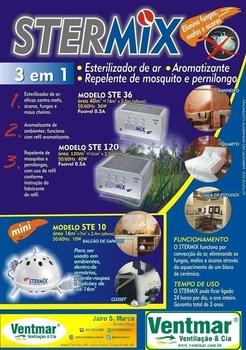 Esterilizador De Ar Stermix STE-36 - Inox 220Volts - p/Até 16m2 - Ste 36 220v Inox - Stermix