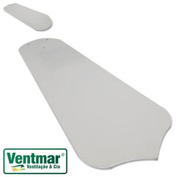 Pá Hélice para Ventilador Loren Sid M1 M2 Comercial Branca - Pá em Metal com Encaixe em Garra Suporte de 3Furos