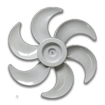 Hélice para Ventilador Mallory 40cm 6Pás Plástica Cinza - Furo 8mm Ponta Redonda Com Trava Traseira - Hélice Ventilador Mallory 40cm
