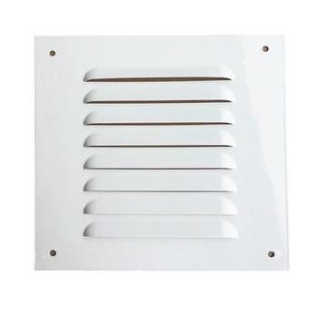 Grade Veneziana de 20x20cm 8Polegadas Grade Fixa de Alumínio cor Branca 20X20 GFM-S Área Saída de Ar 150mm