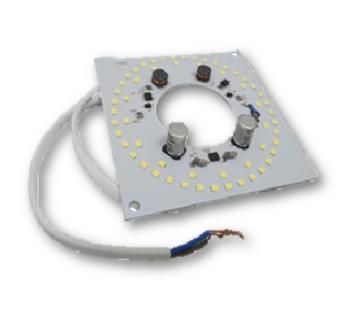 Placa de Led da Luminária do Ventilador Ventisol Fênix Flow Petit Vórtice 127v com Driver 20Watts