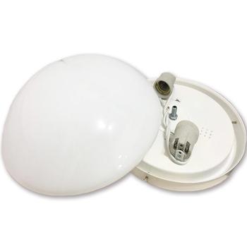 Luminária Londres Vidro Redondo Leitoso - Luminária Completa para Ventilador Volare VR42