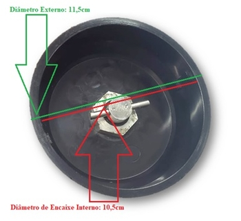 Base do Copo Triturador do Liquidificador Vitalex - Vita Super Inox 2 Litros BAIXA ROTAÇÃO - Com Mancal, eixo e Lâminas