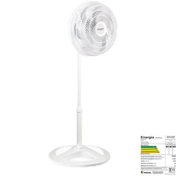 Ventilador De Coluna 50cm Ventisol Turbo 6Pás Premium 127v06uF 135w Branco/Hélice Cinza