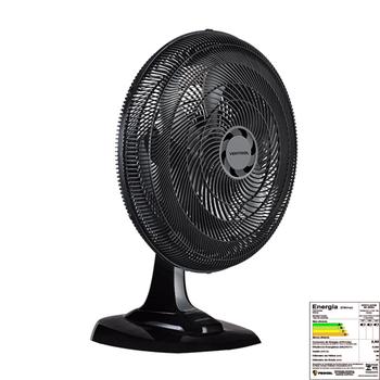 Ventilador de Mesa 50cm Ventisol Turbo 6Pás 127v 80w Preto Helice 6Pas Cinza - Controle de Velocidade - Ventilador se Adapta p/Parede
