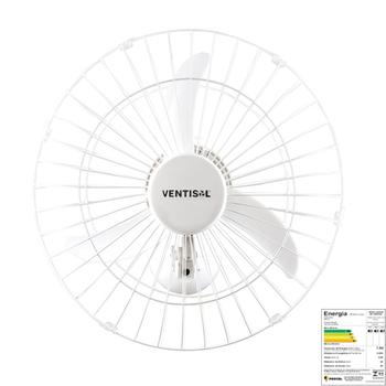 Ventilador De Parede 50cm Ventisol Bivolts 200w - Chave com Controle de Velocidade - Premium Branco