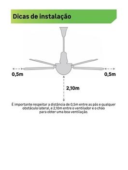 Ventilador De Teto Aliseu SLIM 127v 06,0uF Preto Luminária LED12W 6000k - Controle Remoto Cap.10uF - Luz Amarela