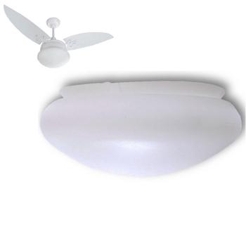 Globo Cúpula Plástica para Ventilador ARGE Cosmos Solar Encaixe no Suporte 220mm - Globo Ventilador Solar