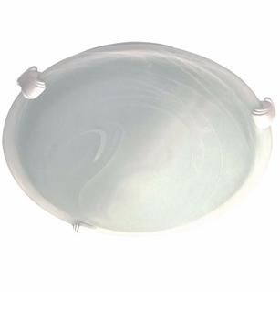 Luminária para Ventilador de Teto Venti-Delta Magnes - Ventisol Sunny - Volare Ventax - Base Suporte Branca c/Vidro MURANO 300mm