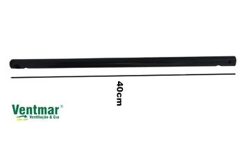 Haste Prolongadora para Instalar Ventilador de Teto - Medida 50cm - Diâmetro 5/8 - Cor Preta