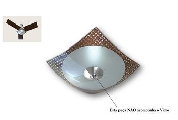 Globo Cúpula Vidro da Luminária do Ventilador de Teto TRON NAULU Luminária Quadrado com Borda Tabaco