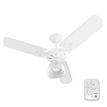 Ventilador de Teto Venti-Delta Super Delta Light 127v10,0uF 130W Branco 3Pás MDF Brancas Chave 3Velocidades - Consumo A