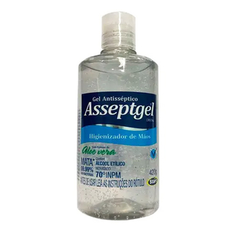 Higienizador Álcool Gel Antisséptico 70% 420g Asseptgel