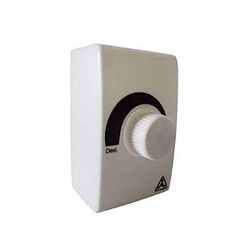 Chave Controladora de Velocidade Ventilador Venti-Delta Premium / Delta Gold 50/60cm - Bivolts Potência até 0400W Caixa Fundo Branca Compacta 7x8cm