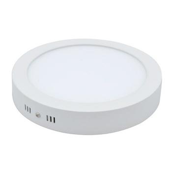Plafon Redondo de Sobrepor 160CX160LX28Amm Branco - Luz Branca LED12W6500k Bivolts Alta Potência