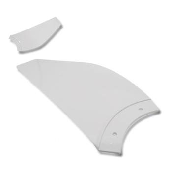 Pá Hélice do Ventilador de Teto Aliseu Inspire Nano Branca Plástica - Vendida p/Unidade - PAALS