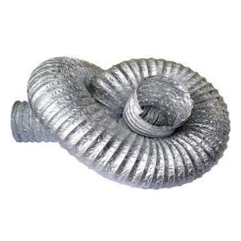 Duto Flexível de Alumínio 10cm para Exaustores - Tubo Flexível 100mm 4 - Vendido p/Metro