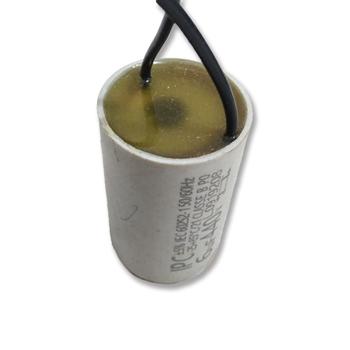 Capacitor para Ventiladores - Potência 06,0uF saida c/2-Fios 440VAC - Serve p/Ciculador Ventisol 06,0uF 2Fios 440Vac - Redondinho